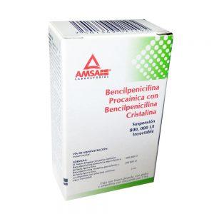 Bencilpenicilina Procainica con Bencilpenicilina Cristalina